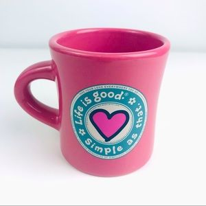 Life is Good Pink Heart Simple As That Mug